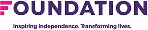 Foundation logo in purple.