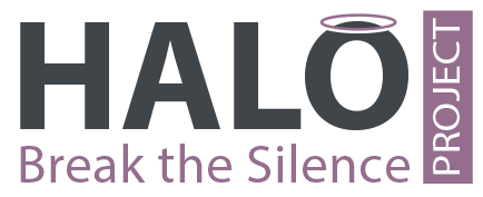 Halo Project logo with Break the silence slogan underneath.