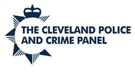 the Cleveland Police and Crime panel logo in blue and white.