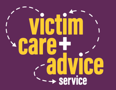 Victim care and advice service logo.
