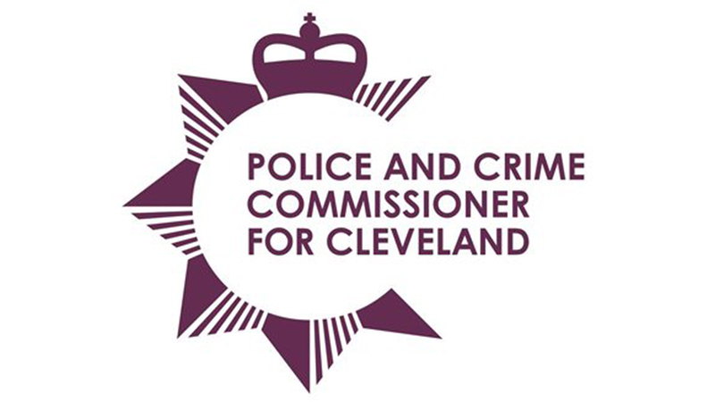 Police and Crime Commissioner for Cleveland logo in purple and white.
