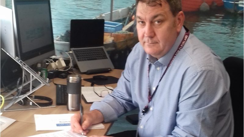 PCC Steve Turner at his desk
